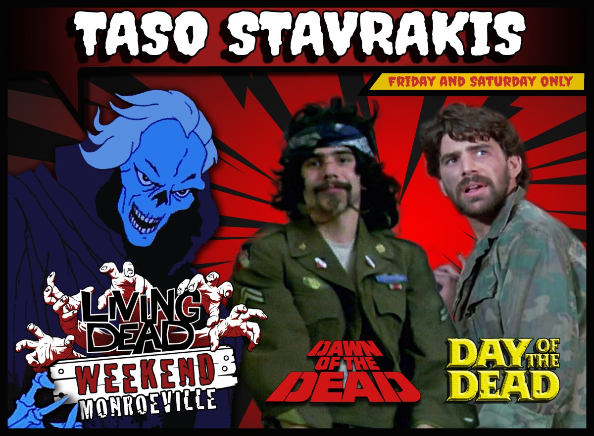 TASO STAVRAKIS LIVING DEAD WEEKEND MONROEVILLE MALL DAWN OF THE DEAD AND CREEPSHOW REUNION HORROR CONVENTION ZOMBIE GEORGE ROMERO PITTSBURGH