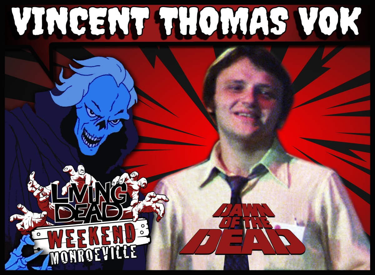 Vincent Thomas Vok DAWN OF THE DEAD guest Living Dead Weekend: Monroeville June 14-16, 2019 WGON TV News