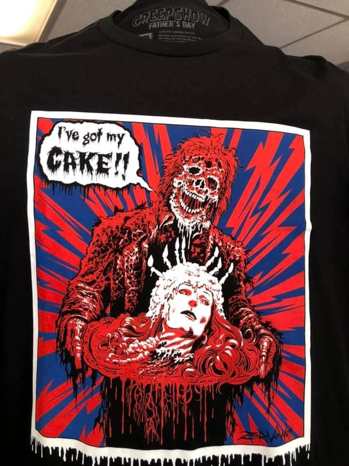 Creepshow Father's Day Cake T-Shirt by Frightrags