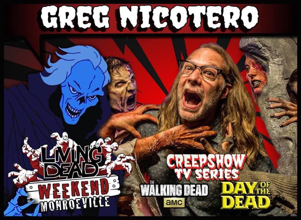 Greg Nicotero CREEPSHOW TV Series KNB EFX Romero's DAY OF THE DEAD AMC's The Walking Dead Living Dead Weekend: Monroeville