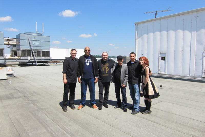 Living Dead Weekend Monroeville Mall Roof Photo Op with Dawn of the Dead Guests Ken Foree and Scott Reiniger Weekend Dawn of the Dead Romero Guests
