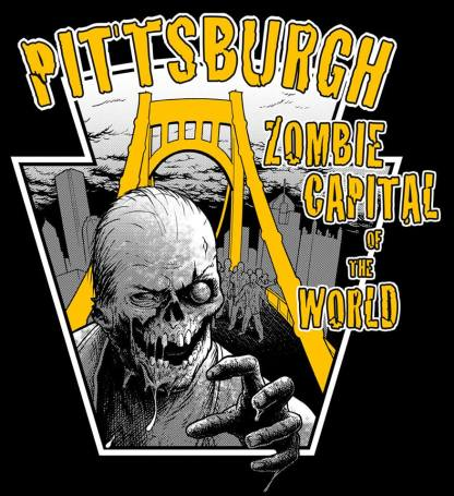 Pittsburgh Zombie Capital of the World Bridge Horde T-Shirt