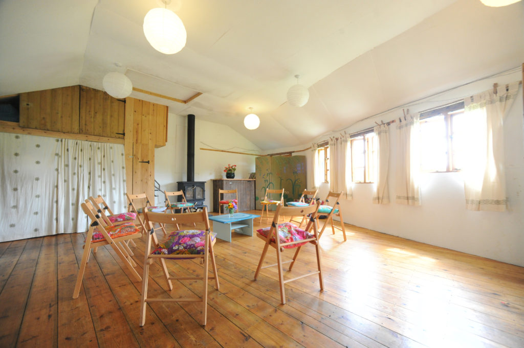 The Longhouse - group space at the Living Well Centre in Cornwall