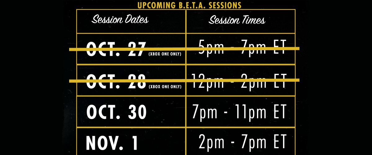 Dates and Times for the Next Four Fallout 76 BETA Sessions