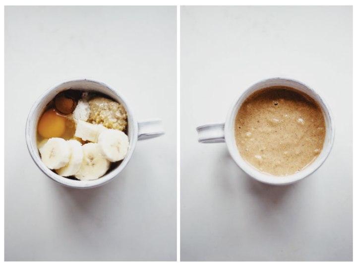 Healthy, gluten free, muffin in a mug recipe