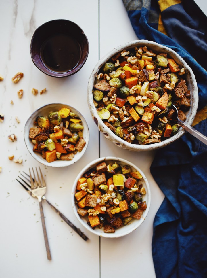 Autumn panzanella salad recipe