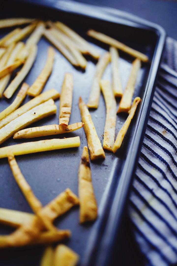 vegan parsnip fries
