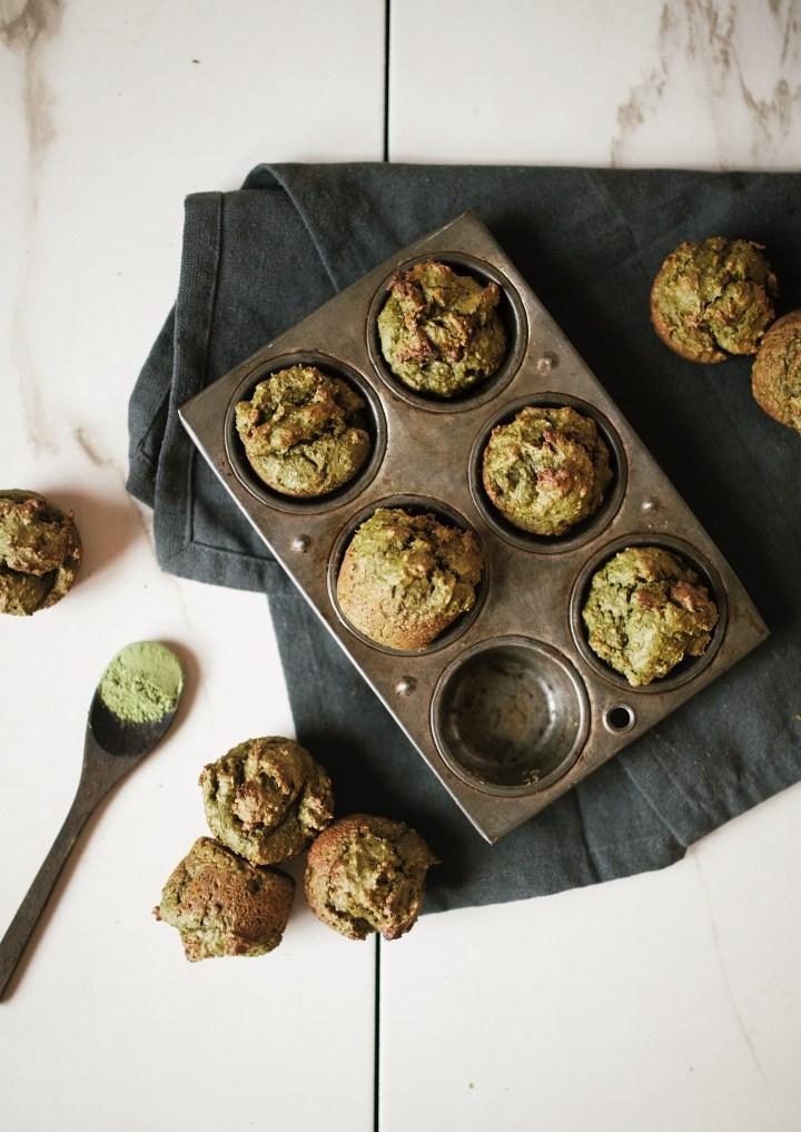 matcha avocado muffins