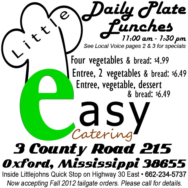 The Little Easy Catering, Oxford, Mississippi