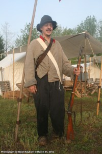 Reenactor Brian Walker and company. Photograph by Newt Rayburn © March 31, 2012