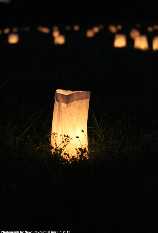 Luminaries in Cloud Field, April 7, 2012 Photograph by Newt Rayburn