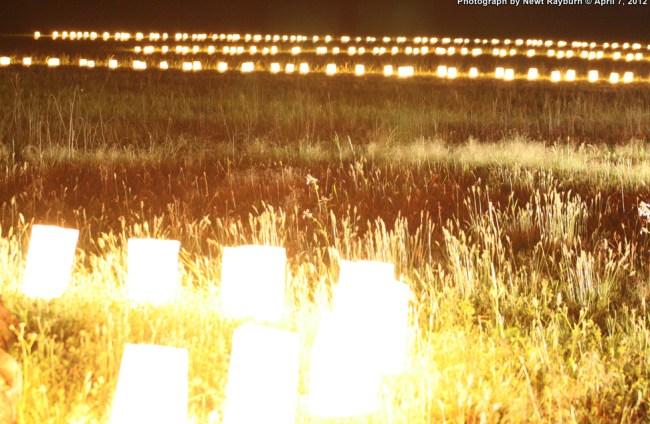Luminaries at Shiloh National Military Park, April 7, 2012 Photograph by Newt Rayburn