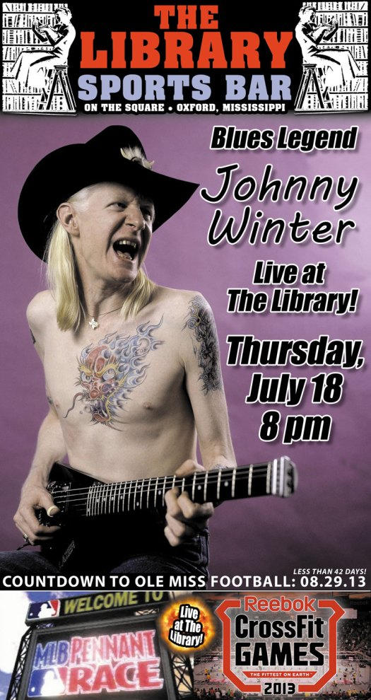 Johnny Winter live at The Library July 18, 2013