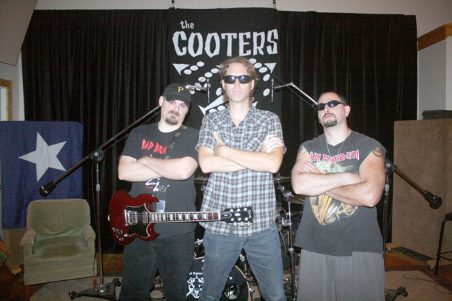 "Gentry Webb, Newt Rayburn, and Mikey Namorato of the Oxford, Mississippi rocknroll band, The Cooters. The band will be featured on the March 27, 2014 episode of ""Oxford Sounds"" on Mississippi Public Broadcasting TV. Photograph by Winn McElroy."