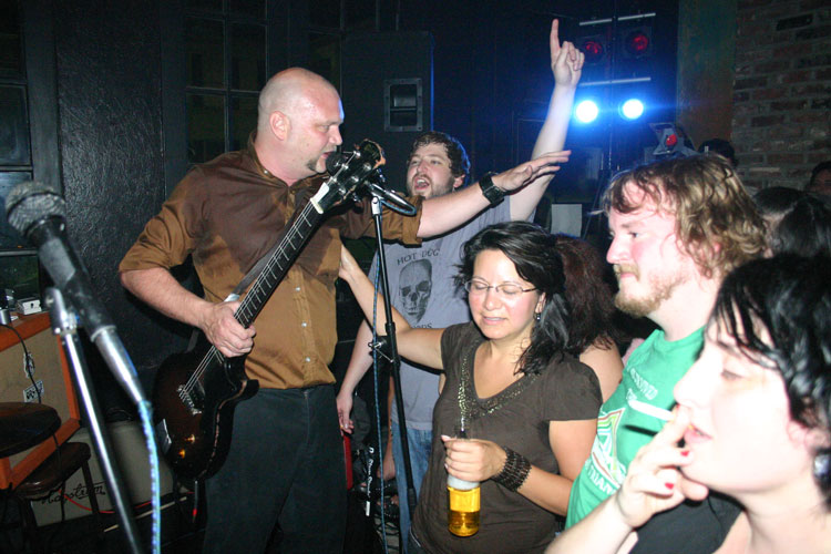 Tyler Keith reunited with The Neckbones in 2007. Photograph by Newt Rayburn.
