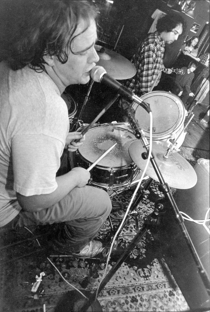 Forrest Hewes with The Neckbones live at Ireland's in 1994. Photograph by Newt Rayburn.