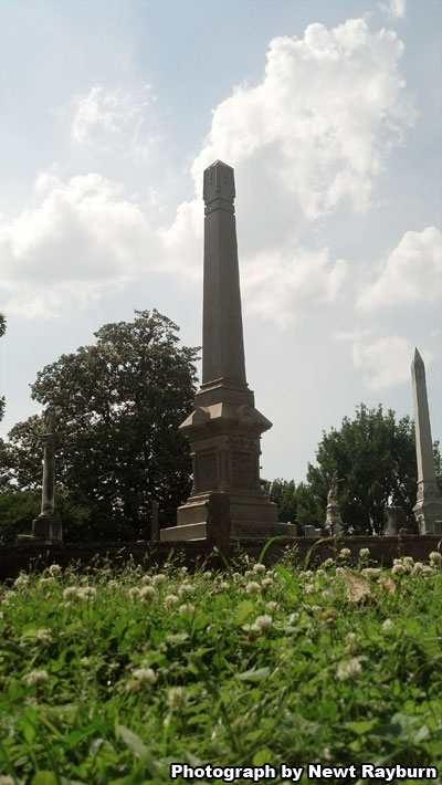 Jacob Thompson's grave in Elmwood Cemetery in Memphis, Tennessee. Photograph by Newt Rayburn.