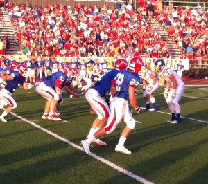 Oxford Chargers vs.  Jackson Prep, August 22, 2014. Photograph by Carver Rayburn.