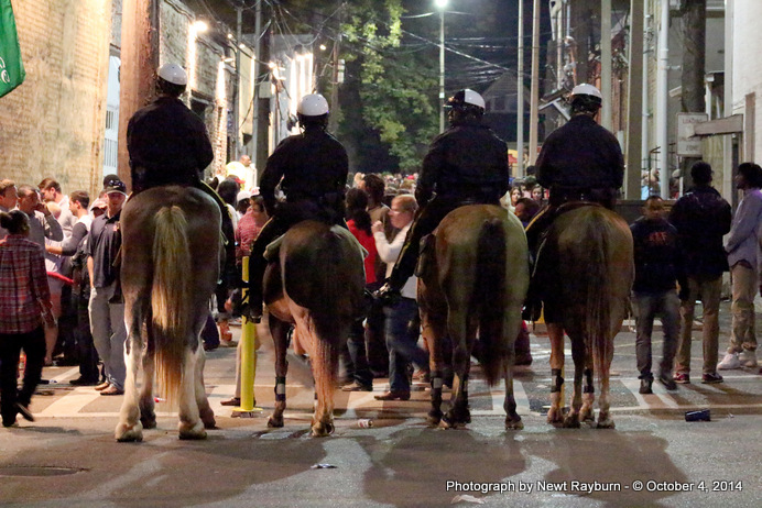 Oxford Police Cavalry on the Square.