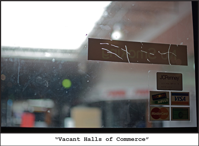 vacant halls of commerce
