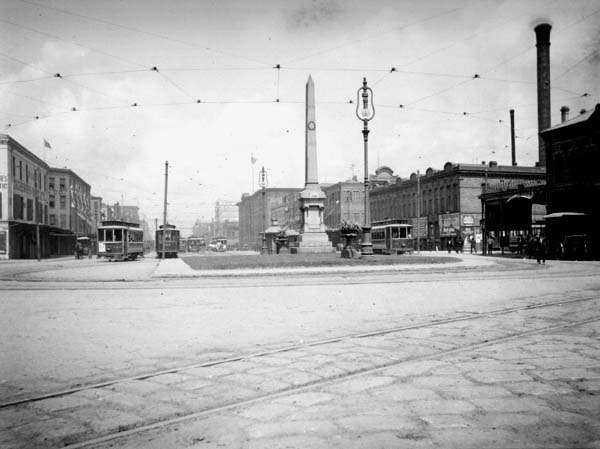 The Battle of Liberty Place monument was originally erected on Canal Street in 1891 in New Orleans.