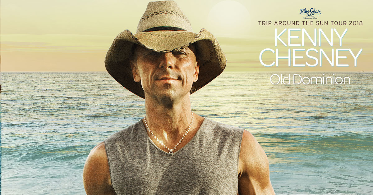 Kenny Chesney Set to Play Live at the BankPlus Amphitheater in Southaven, Mississippi July 19, 2018 - Tickets Go On Sale Friday, February 23