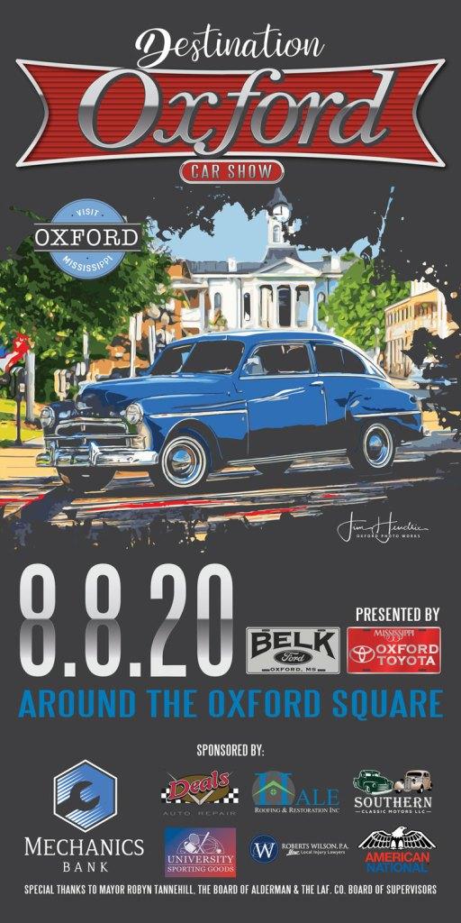 Destination Oxford Car Show Saturday August 8 2020