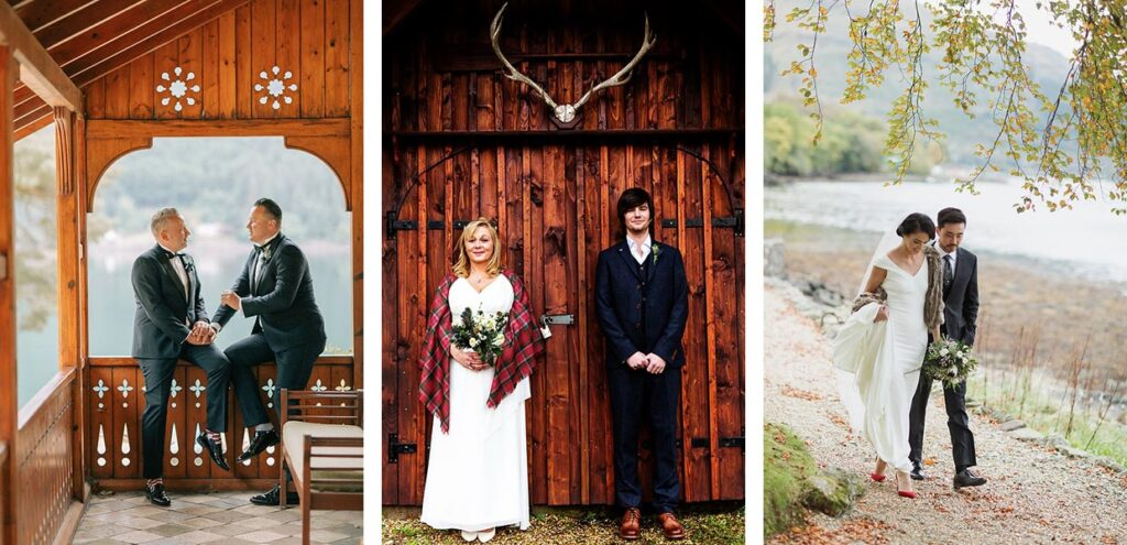 Elopement and small weddings at The Lodge on Loch Goil