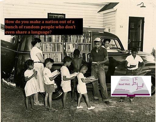 African Americans visit a bookmobile in North Carolina, 1950