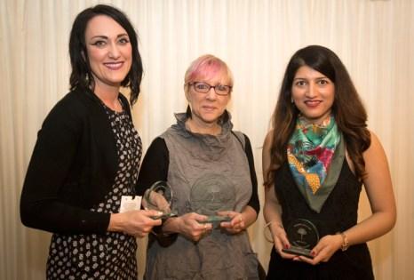 Winners Victoria Richards (3rd), Theo Greenblatt (1st) and Dur e Aziz Amna (2nd)