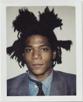 Andy Warhol, Jean-Michel Basquiat, 1982, Polacolor ER, 10.8 x 8.5 cm.© 2018 The Andy Warhol Foundation for the Visual Arts, Inc. Licensed by DACS, London. Courtesy BASTIAN, London