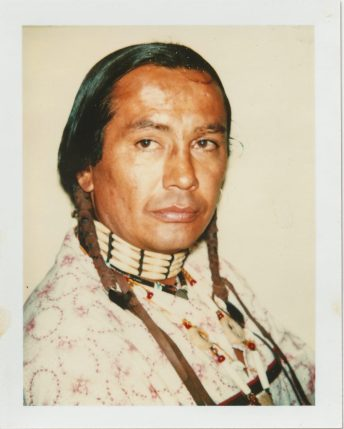 Andy Warhol, The American Indian (Russell Means), 1976, Polacolor Type 108. © 2018 The Andy Warhol Foundation for the Visual Arts, Inc. Licensed by DACS, London. Courtesy BASTIAN, London
