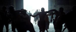 Guards enter the prison