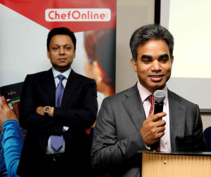 L: Chef Online Chairman and Chair of Amber Group, Showkat Aziz Russell; R: Chef Online Managing Director, M A Munim Salik