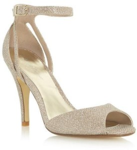 Roland Cartier Ladies MARLA - GOLD Two Part Heeled Dressy Sandal WAS £55 NOW £28