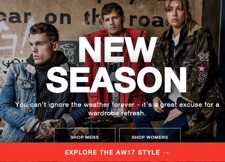 AW17 New Season has just landed at SUPERDRY