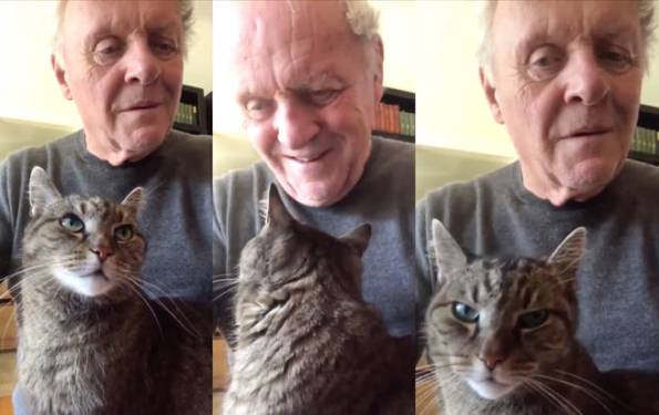 Anthony Hopkins Plays Piano To Niblo His Cat