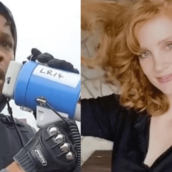 Jessica Chastain Supports John Boyega