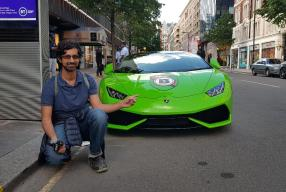 A Lamborghini Day On Sloane Street In London
