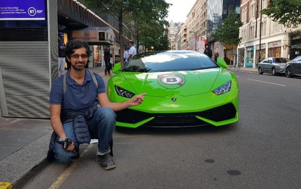 A Lamborghini Day On Sloane Street In London