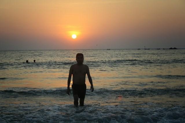 Sunset at Palolem beach South goa Holiday trip