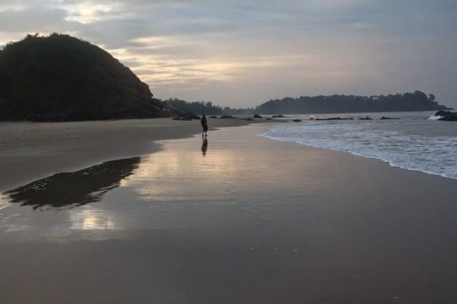 Morning walk at South Goa beach Holiday trip