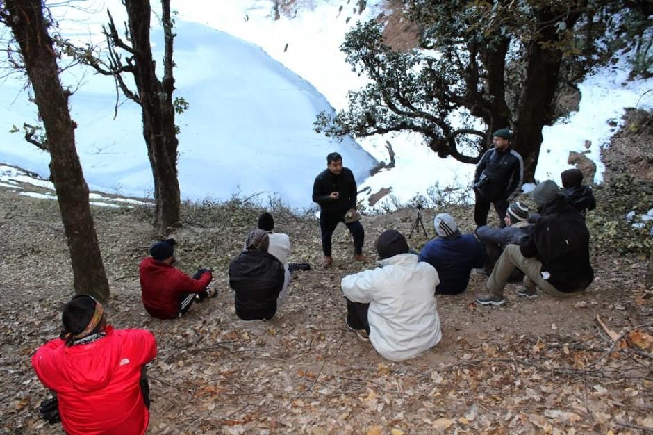 landscape Photography workshop on slopes of Kedarkantha Himalayas