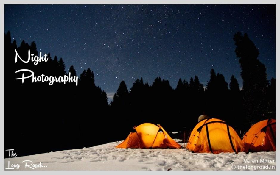 Night photography on himalayas