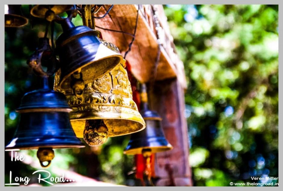 Black and brass bells at Temple of Kumaon Uttarakhand India