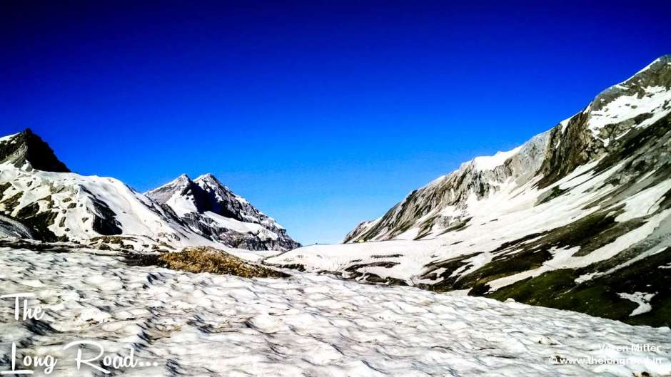 View of glacier at mahaguna pass, ganesh pass, Amarnath yatra