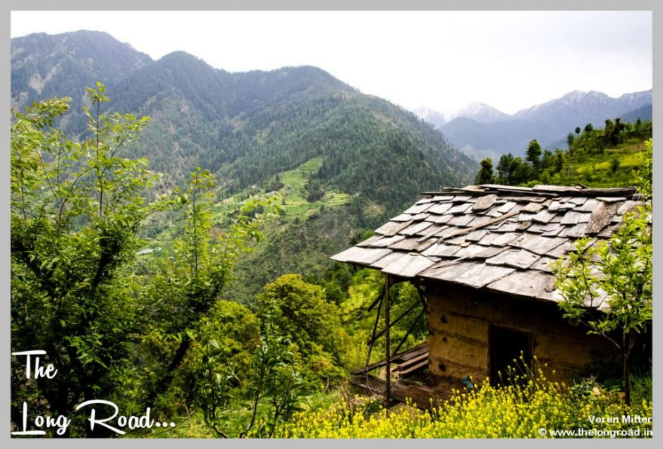 View of old Village house in Tirthan valley, GHNP