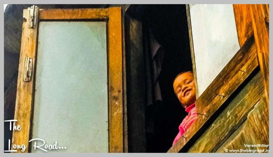 Inquisitive child in Tirthan valley, GHNP