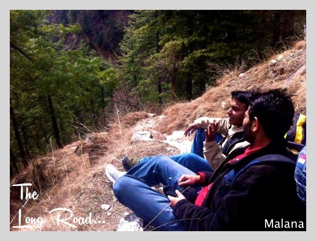 steep trail of Malana village