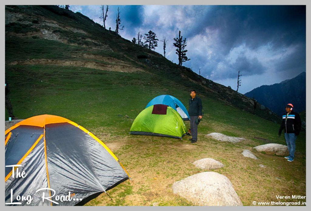 Kareri lake camping.